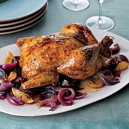 Aleppo-Pepper-and-Mint-Roasted Chicken