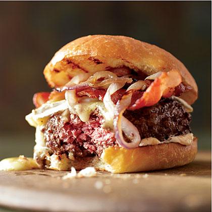 Bacon Burgers on Brioche Buns