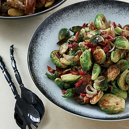 Caramelized Brussels Sprouts with Pancetta