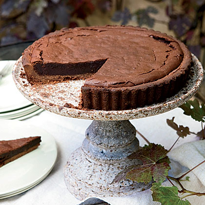 Chocolate-Bourbon Tart Recipe