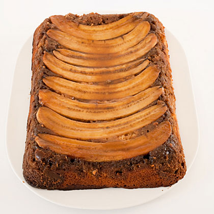 Grace Parisi uses one of the world's greatest flavor combinations for her unusual marble cake topped with bananas, which caramelize on the bottom of the pan.Chocolate-Peanut-Butter-Banana Upside-Down Cake Recipe
