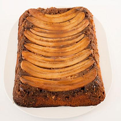 Chocolate-Peanut-Butter-Banana Upside-Down Cake