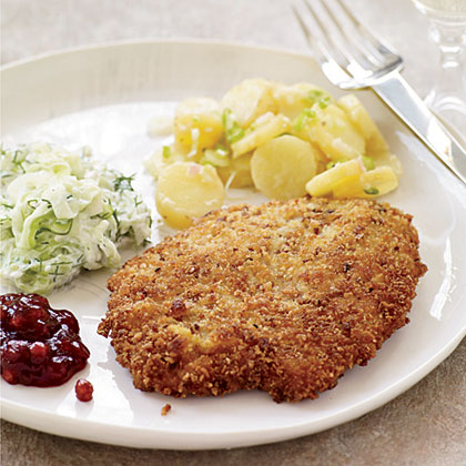 Crispy Wiener Schnitzel with Lingonberry Preserves Recipe