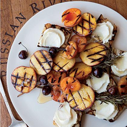 Grilled-Fruit Bruschetta with Honey MascarponeRecipe