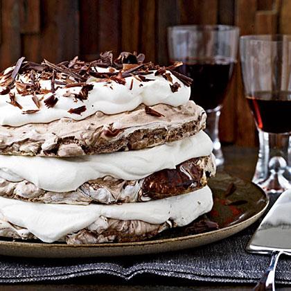 Hazelnut-and-Chocolate Meringue Cake Recipe