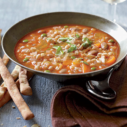 Mixed Vegetable and Farro Soup Recipe