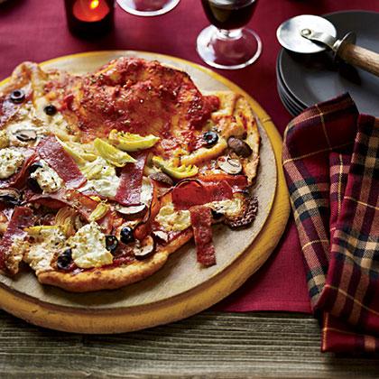 Pizza Vesuvio with the Works