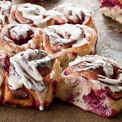 Raspberry-Swirl Sweet Rolls