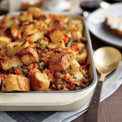 Sausage-and-Bread Stuffing Recipe
