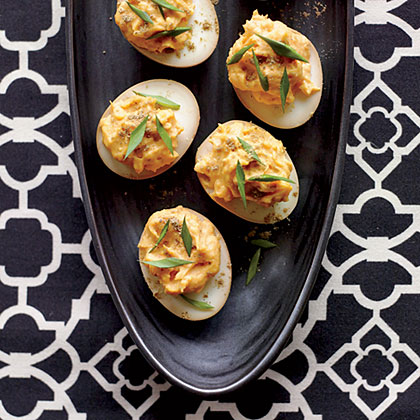 Sriracha-and-Wasabi Deviled EggsRecipe
