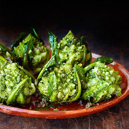 Broccoli Romanesco with Green Herb Sauce