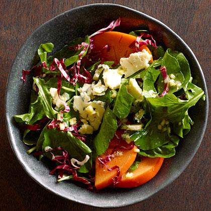 Fall Greens Persimmon Salad Recipe