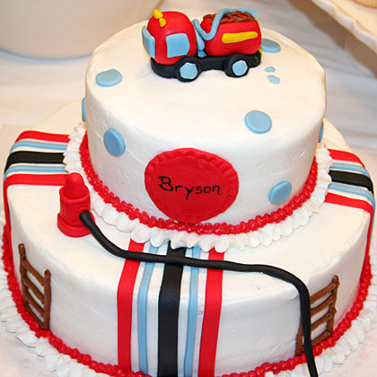 Just Add Candles Fire Truck Party Cake