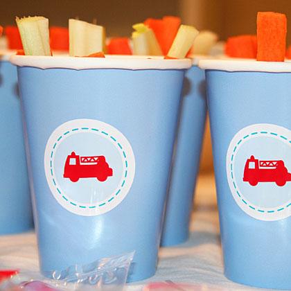 Fire Truck Cups