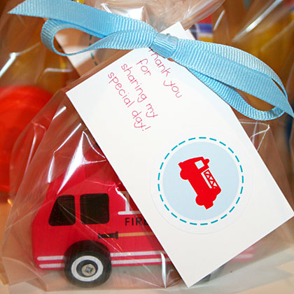 Fire Truck Party Favors