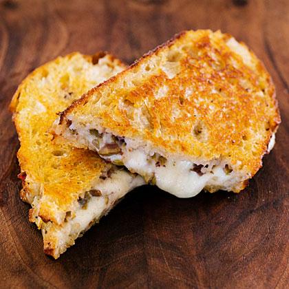Nan's Grilled Mozzarella and Olive Sandwich