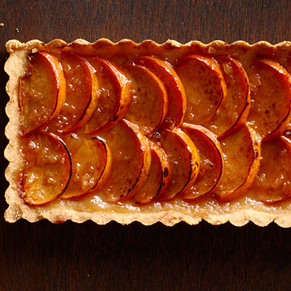 Spiced Persimmon Tart with Brandy Mascarpone