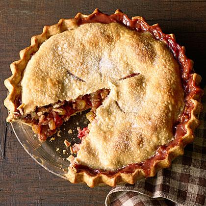 Winter Fruit and Walnut Pie