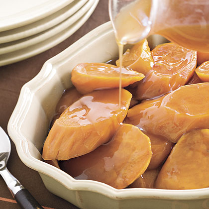 Candied Yams                            RecipeThe flavor combination of brown sugar, vanilla, and sweet potatoes are reminiscent of cool-weather holidays. Pair with traditional holiday entrées like ham, turkey, or beef tenderloin.