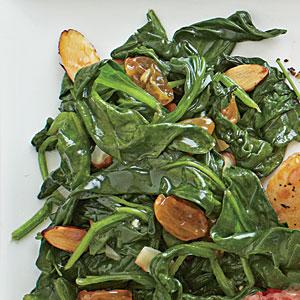 Sautéed Spinach with Almonds and RaisinsRecipe