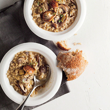 Barley Risotto with Wild Mushrooms