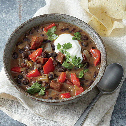 Black Bean Soup with Chorizo and LimeRecipe