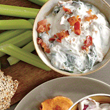 Blue Cheese-Bacon-Spinach Dip