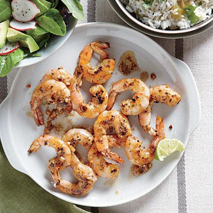 Citrus-Glazed Shrimp with Cilantro Rice