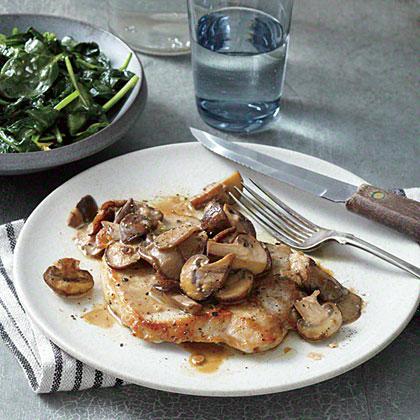 Pork Cutlets with Wild Mushroom Marsala