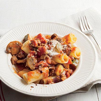 Rigatoni with Meaty Mushroom Bolognese