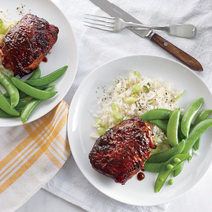 Sticky Soy-Hoisin Chicken ThighsRecipe