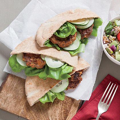 Lamb and Red Pepper Pita Sandwiches Recipe