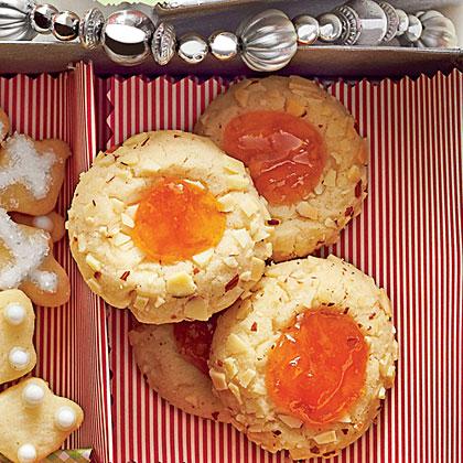 Apricot-Almond Thumbprints Recipe | MyRecipes.com