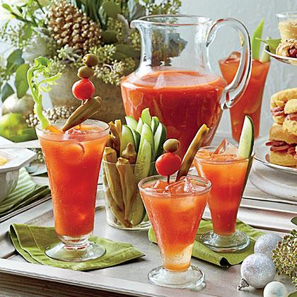 Bloody Mary Bar Recipe   MyRecipes.com
