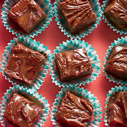 Boozy Caramel Fudge
