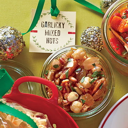Garlicky Mixed Nuts