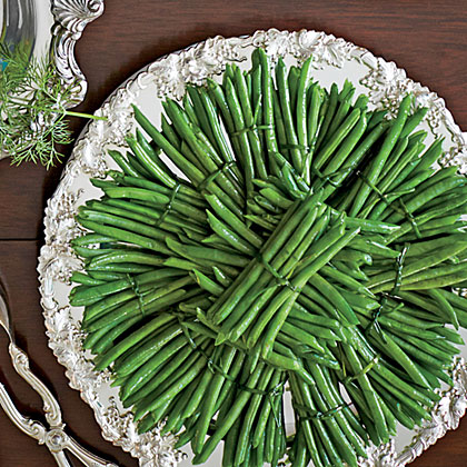 Green Beans with Hollandaise Sauce