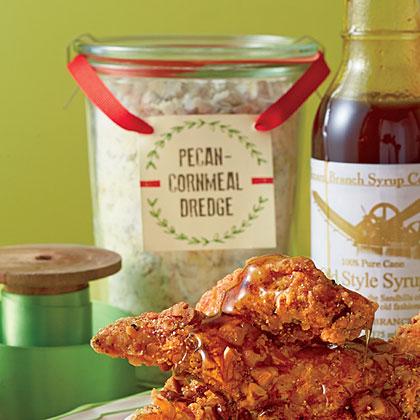 Pecan-Cornmeal Dredge