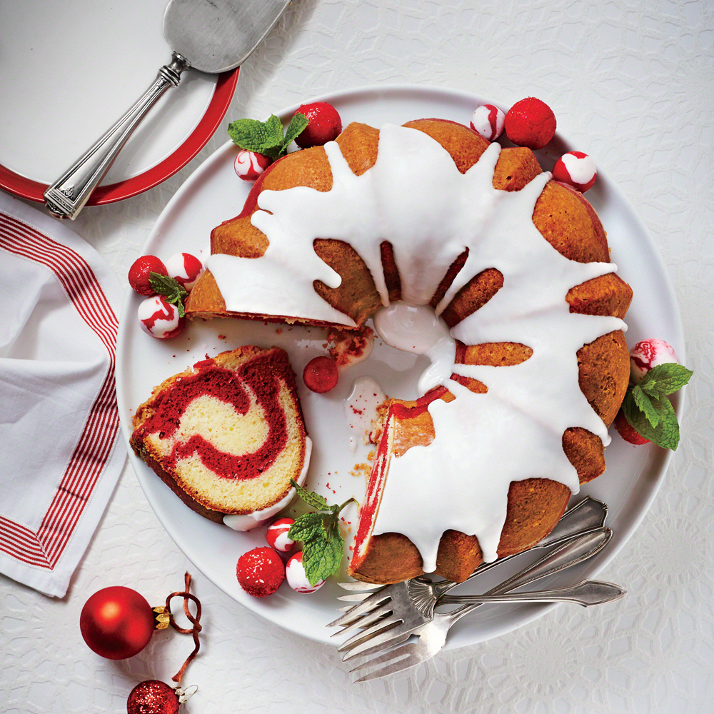 Red Velvet Marble Bundt Cake
