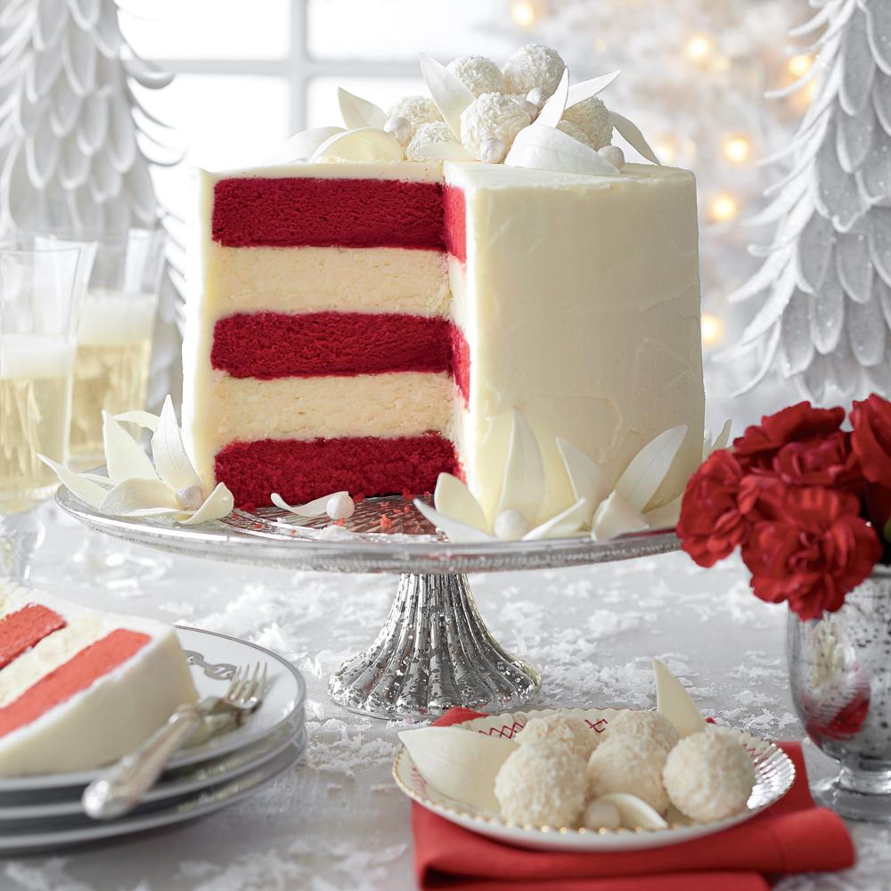 Red Velvet-White Chocolate Cheesecake