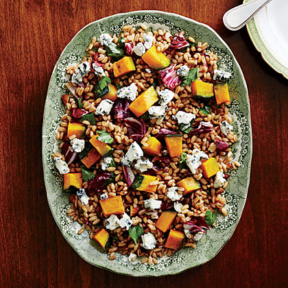 Roasted Squash with Farro and Almonds