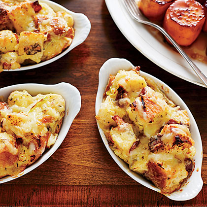 Savory Bacon-and-Leek Bread Pudding
