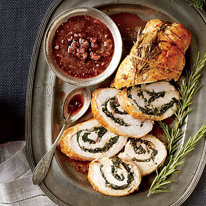 Turkey Roulade with Figgy Port Wine Sauce