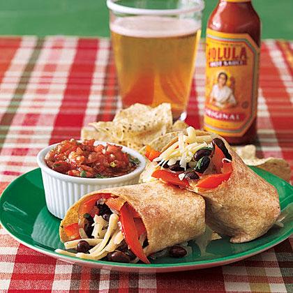 ay-Black Bean and Vegetable Burritos