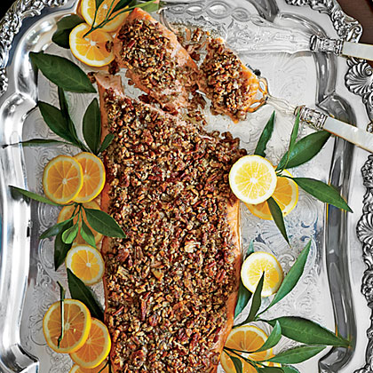 dijon salmon quick and easy pecan crusted dijon salmon recipe yummly ...