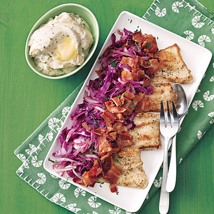 Pork Cutlets with Red Cabbage