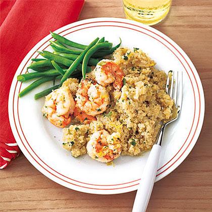 Shrimp and Quinoa Pilaf