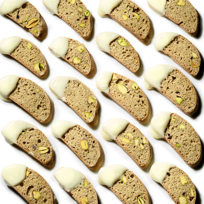 Cardamom-Pistachio Biscotti RecipeThese biscotti bring together the warm flavors of cardamom with the crunch of pistachios.