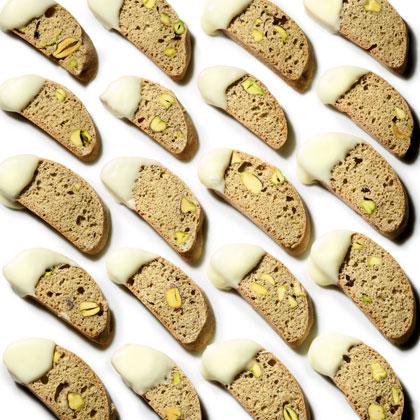 Cardamom-Pistachio Biscotti