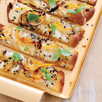 Cheesy Caramelized Onion Flatbreads